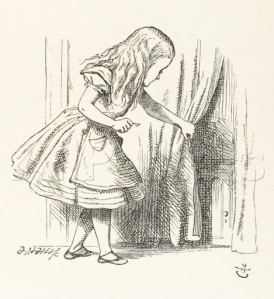 Alice and the curtain